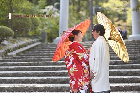 番傘 結婚式 弥彦.jpg