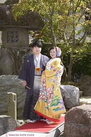 結婚式 色打掛 黄色jpg.jpg