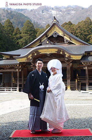 弥彦神社 結婚式和装
