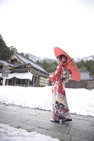 雪景色 振袖